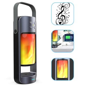 3-1:ssä Kannettava Bluetooth-Kaiutin / Langaton Laturi / LED-Lamppu