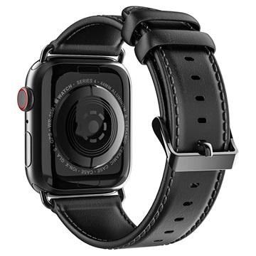 Dux Ducis Apple Watch Series 4/3/2/1 Nahkaranneke - 38mm, 40mm - Musta