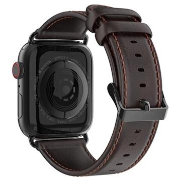 Dux Ducis Apple Watch Series 4/3/2/1 Nahkaranneke - 42mm, 44mm - Kahvi