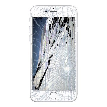 iPhone 6S Plus LCD-näytön ja Kosketusnäytön Korjaus - Valkoinen -