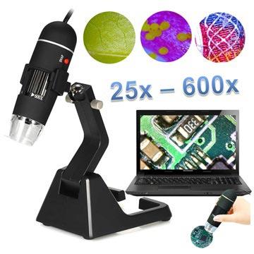 25X-600X Kannettava USB Digitaalinen Mikroskooppi Jalustalla