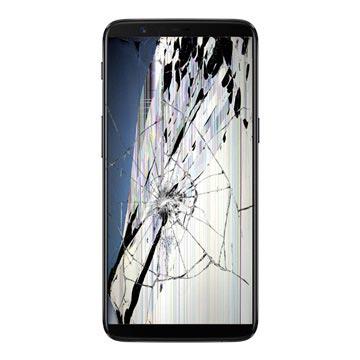 OnePlus 5T LCD-näytön ja Kosketusnäytön Korjaus - Musta