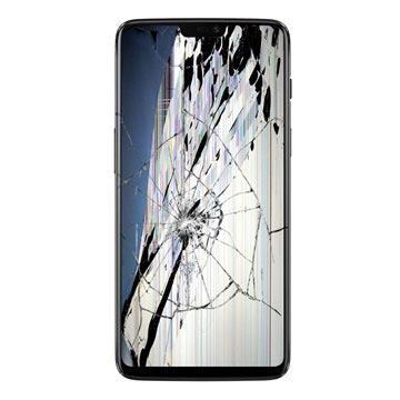 OnePlus 6 LCD-näytön ja Kosketusnäytön Korjaus - Peilimusta