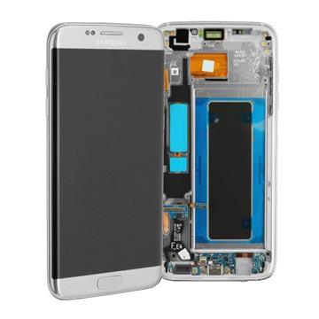 Samsung Galaxy S7 Edge Etukuori & LCD Näyttö GH97-18533B - Hopea