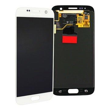 Samsung Galaxy S7 LCD Näyttö - Valkoinen