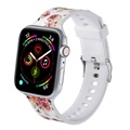 Apple Watch SE/6/5/4/3/2/1 Stylish Silikoniranneke - 42mm, 44mm