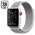Apple Watch Series 3 LTE MQKJ2ZD/A - Alumiinikuori, Urheiluranneke, 38mm, 16GB - Seashell/Hopea