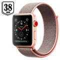 Apple Watch Series 3 LTE MQKL2ZD/A - Alumiinikuori, Urheiluranneke, 38mm, 16GB - Hietaroosa/Kulta