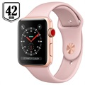 Apple Watch Series 3 LTE MQKP2ZD/A - Alumiinikuori, Urheiluranneke, 42mm, 16GB - Kulta/Hietaroosa