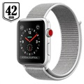 Apple Watch Series 3 LTE MQKQ2ZD/A - Alumiinikuori, Urheiluranneke, 42mm, 16GB - Hopea/Seashell