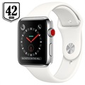 Apple Watch Series 3 LTE MQLY2ZD/A - Ruostumaton Teräskuori, Urheiluranneke, 42mm, 16Gt