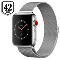 Apple Watch Series 3 LTE MR1U2ZD/A - Ruostumaton Teräskuori, Milanolaisranneke, 42mm, 16Gt - Hopea/Seashell