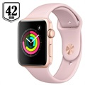 Apple Watch Series 3 MQL22ZD/A - Alumiinikuori, Urheiluranneke, 42mm, 8GB - Kulta/Hietaroosa