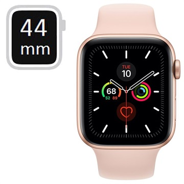 Apple Watch Series 5 GPS MWVE2FD/A - Alumiinikuori, Urheiluranneke, 44mm - Kulta