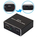 Compact High-Quality HDMI Audio Extractor - Black
