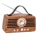 Creative Retro FM Radio Bluetooth Kaiutin - Ruskea