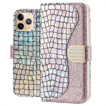 Croco Bling iPhone 11 Pro Lompakkokotelo