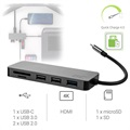 Green Cell 7-in-1 USB-C Hub Adapter - QC 4.0, PD, Samsung Dex, 4K, SD, microSD
