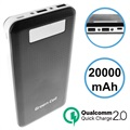 Green Cell PB93 Qualcomm QC 2.0 Varavirtalähde - 20000mAh - Musta
