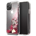Guess Glitter Collection iPhone 11 Pro Suojakotelo - Vadelma