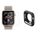 Hat Prince Apple Watch Series 5/4 Full Suojaussetti - 44mm - Musta