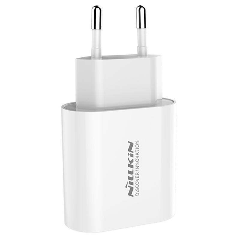 Nillkin Fast Charger Adapter, QC 3.0, valkoinen