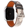 Apple Watch Series SE/6/5/4/3/2/1 Pattern Nahkaranneke - 42mm, 44mm