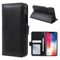 iPhone X Premium Wallet Case with Stand Feature - Black