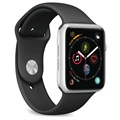 Puro Icon Apple Watch Series SE/6/5/4/3/2/1 Silikoniranneke - 38mm, 40mm - Musta