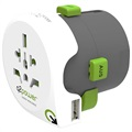 Q2Power QDAPTER Yleismallinen USB World Travel Adapteri - 10A