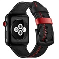 Apple Watch Series SE/6/5/4/3/2/1 Stitched Nahkaranneke - 42mm, 44mm