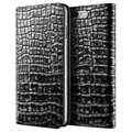 iPhone 7 Plus VRS Design Croco Diary Lompakkokotelo - Tummanhopea