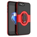 iPhone 7 Plus / iPhone 8 Plus iPaky Hybrid Magnetic Ring Case - Red / Black