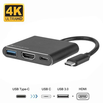 4smarts OfficeCord USB-C Multiport Adapter - Samsung Dex, Huawei MateDock