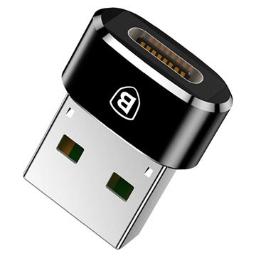 Baseus Mini Series USB 2.0 / USB 3.1 C-tyypin Adapter - Musta