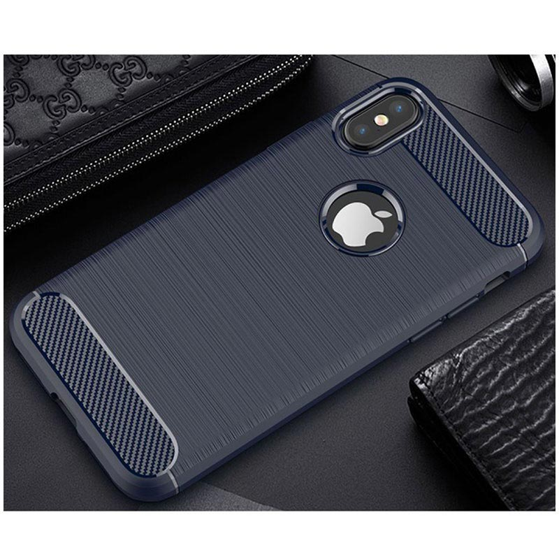 iPhone X / iPhone XS Brushed TPU Case - Carbon Fiber