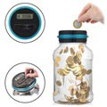 Digital Coin Counter / Money Saving Jar with LCD Display - Euro Currency