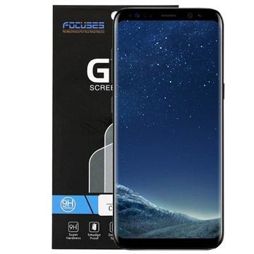 Samsung Galaxy S8 FocusesTech Curved Tempered Glass Screen Protector