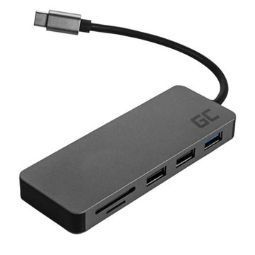 Green Cell 7-in-1 USB-C Hub Sovitin - QC 4.0, PD, Samsung Dex, 4K, SD, microSD
