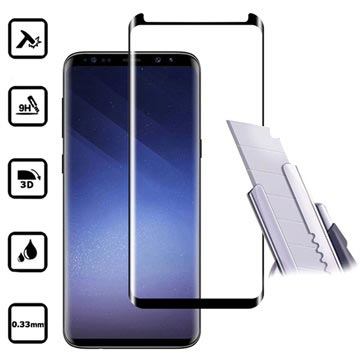 Samsung Galaxy S9 Mocolo 3D Full Size Panssarilasi - 9H - Musta