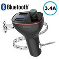 Rock B300 Autolaturi & Bluetooth-FM-Lähetin - Black